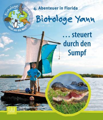 Agnes-Gramming-Steinland-Biotologe-Yann-steuert-durch-Sumpf-Florida